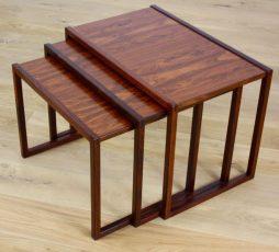 Mid Twentieth Century Design Rosewood Nest of Tables by Kai Kristiansen