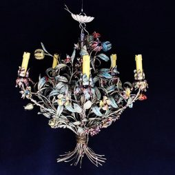 1940s Italian Flower Chandelier