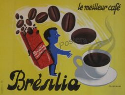 Bresilia Advertising Soft Drinks Poster By Artist Jean Desaleux