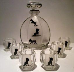 Art Deco Scottie Dog Liquor Set