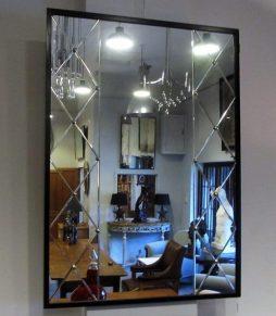 Mid-Century Swedish Trellis Panelled Mirror