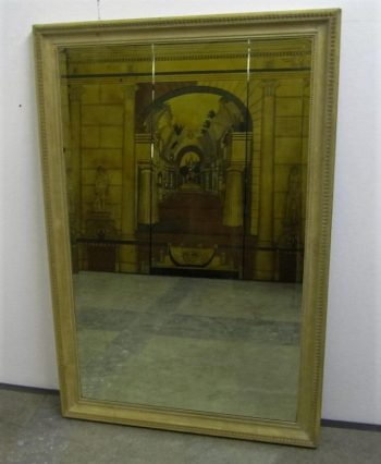 Antique Bleached Carved Walnut Mirror