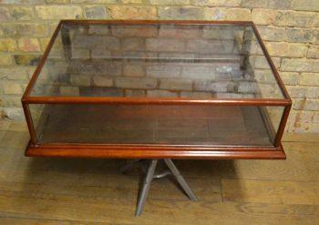 Antique Mahogany Jewellry Counter-Top Display Cabinet - POA