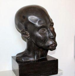 Antique Terracotta or Plaster Grotesque Head