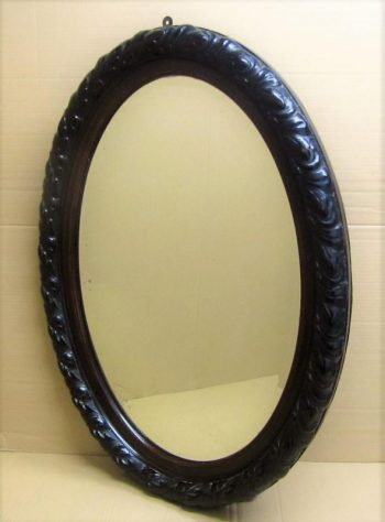 Antique Victorian Bevelled Oval Mirror