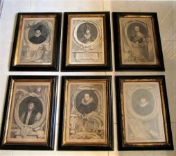 A Set of Six 18th Century Engravings of Noblemen