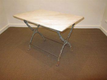 Antique Cast Iron X Frame Table