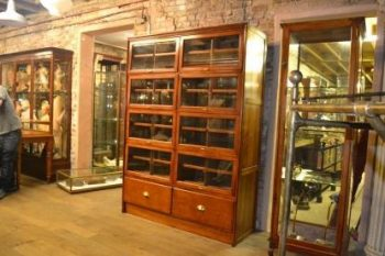 Bespoke Walnut Flip Up Shirt Display Cabinet