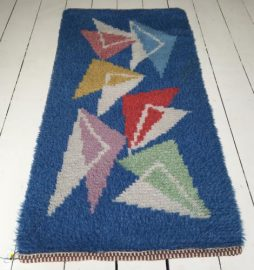 "1950's Swedish Hand knotted ""Rya"" Rug"