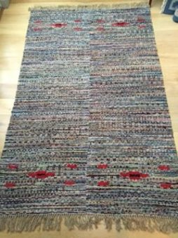 1960's Swedish Handwoven (trasmatta) Rug
