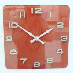 260-Red Glass Retro Wall Clock