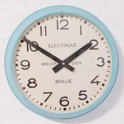 262-Turquoise-Cased Wall Clock