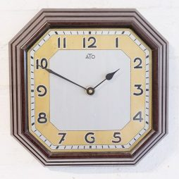 287-French Art Deco Wall Clock