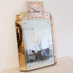 002-Art Deco Mirror Clock