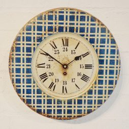 252-French Chequered Tin Clock