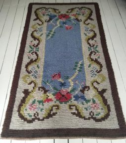 "Swedish 1950's Hand Knotted ""Rya"" Rug"