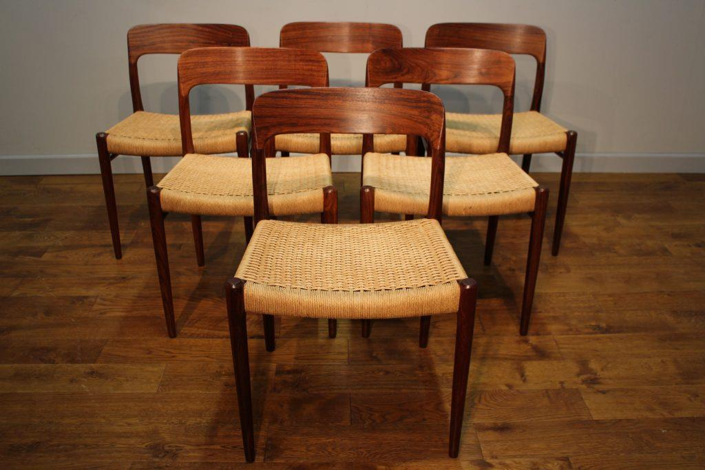 Niels moller rosewood dining chairs model
