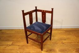 Art Nouveau corner chair by J S Henry