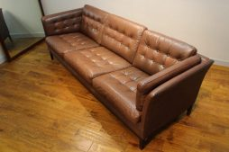 Danish 1970s Vintage Leather Sofa in fab Vintage Condition