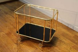 1960s Vintage Brass Cocktail Trolley