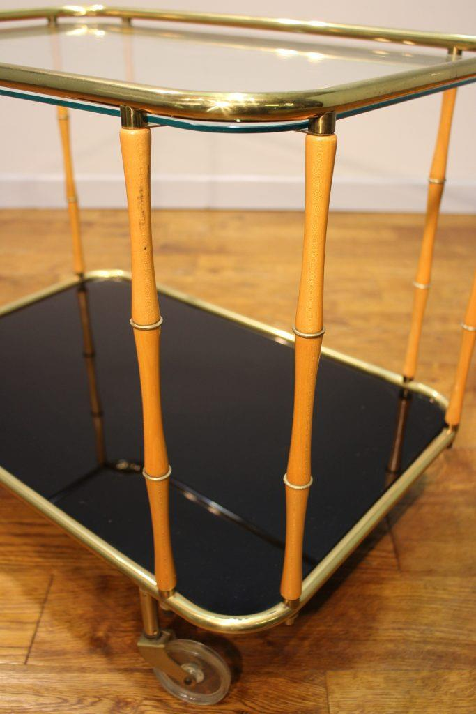 1960s Vintage Brass Cocktail Trolley Interior Boutiques