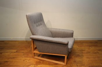Mid-Century Borge Mogensen Armchair With New Grey Upholstery