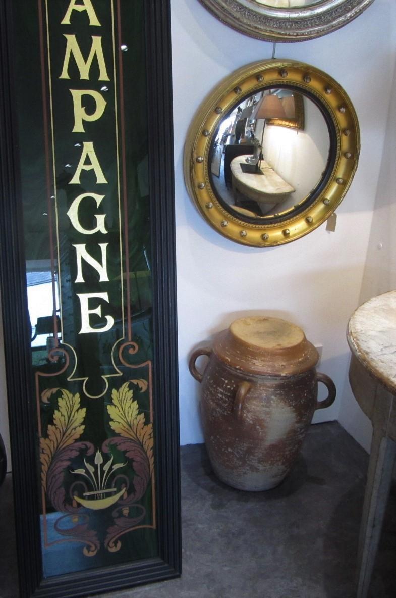 Antique Opaline Glass Shop Front Panel Interior
