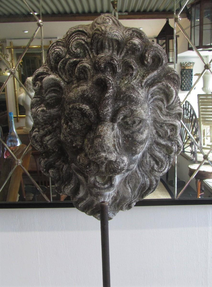 Antique Lion Mask Fountain Head Interior Boutiques