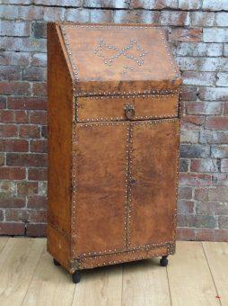 Art Deco Leather Studded Bureau