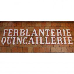 Antique Enamelled Sign Letters from France