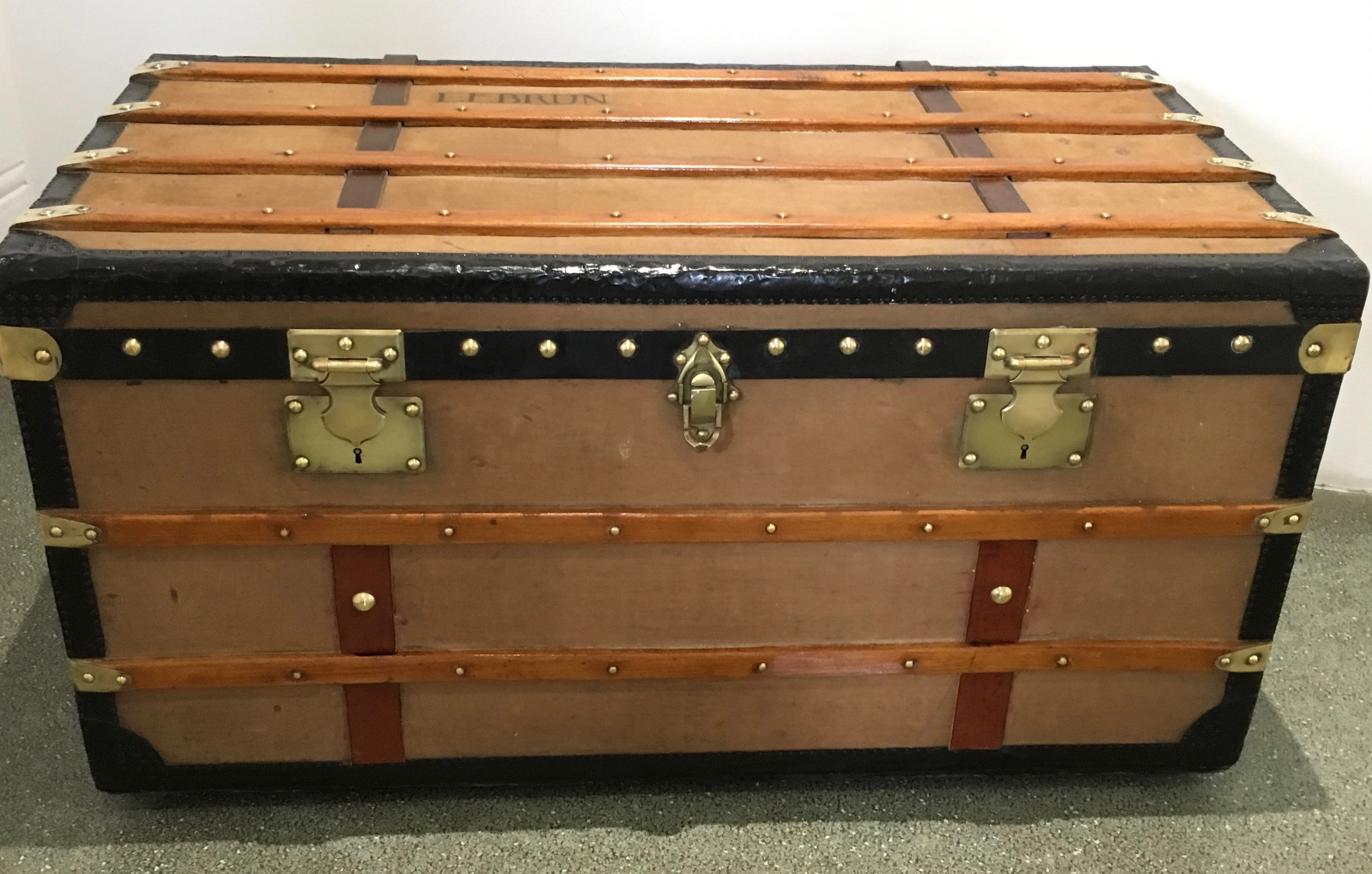 Antique 1900s French Steamer Trunk Interior Boutiques