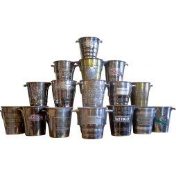 Collection of Vintage Advertising Champagne Buckets