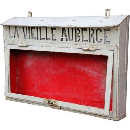 Vintage Metal Menu Signboard from France