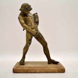 Large Antique Classical Bronze Figure