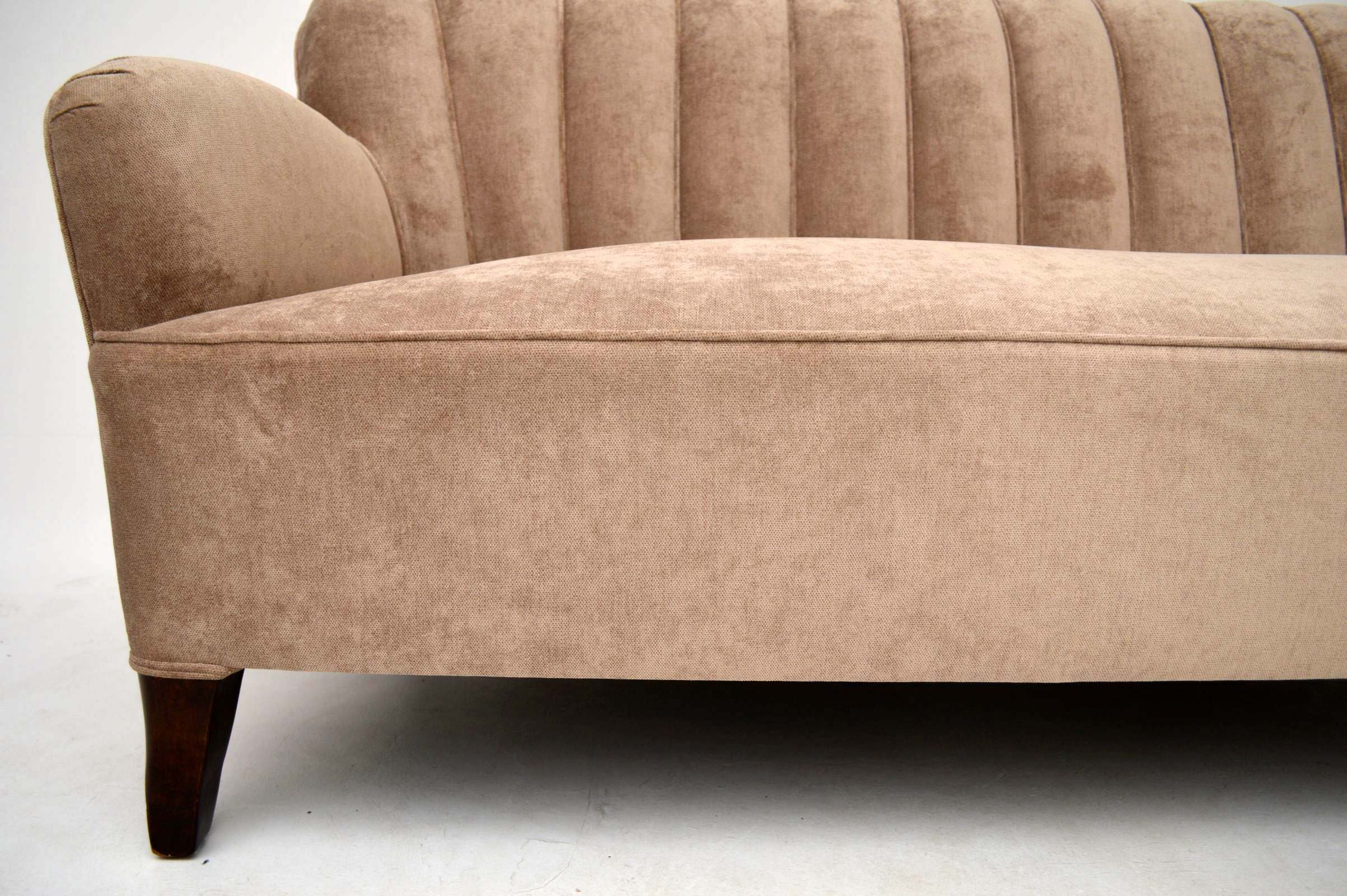 Art Deco Swedish Scalloped Back Sofa Interior Boutiques