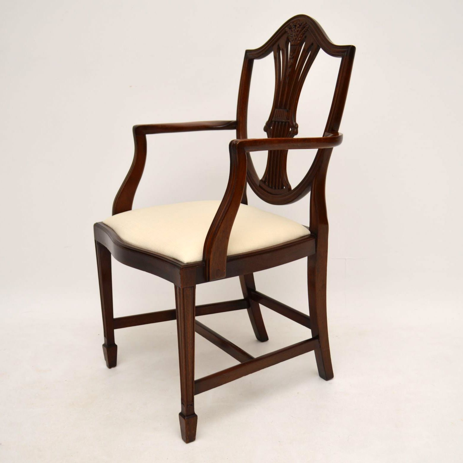 Set of 8 Antique Georgian Style Mahogany Dining Chairs ...