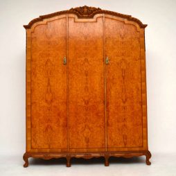 Antique Three Door Burr Walnut Wardrobe