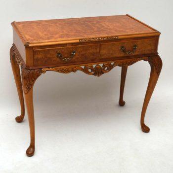 Antique Burr Walnut Console / Side Table