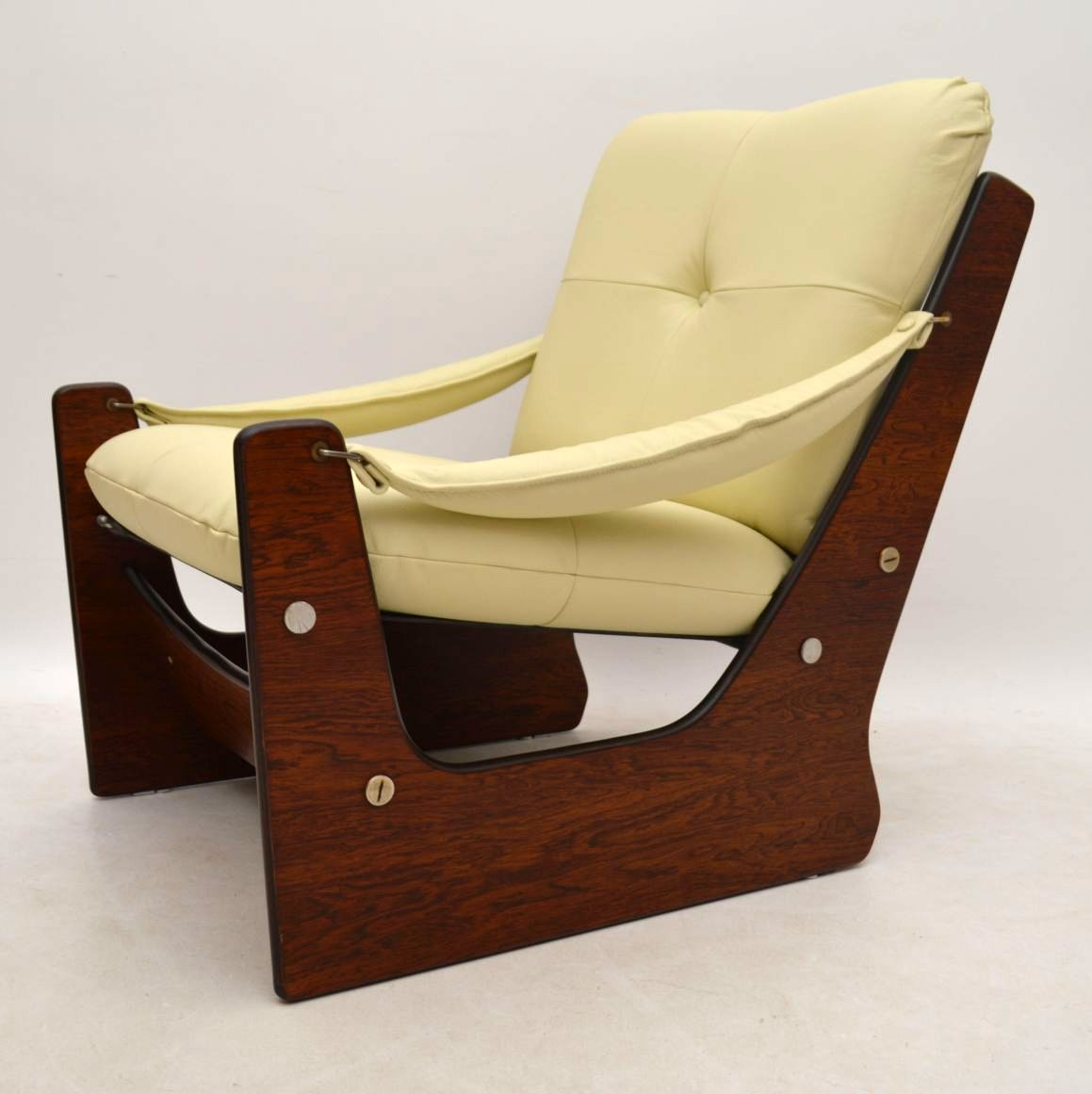Retro Rosewood Leather Armchair Vintage 1960's | Interior ...