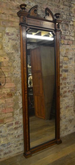 Burr Walnut Decorative Shop Mirror