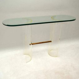 1970's Vintage Glass & Perspex Console Table