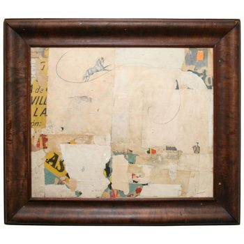 Collage Featuring Beautiful Antique Papers by Artist Huw Griffith
