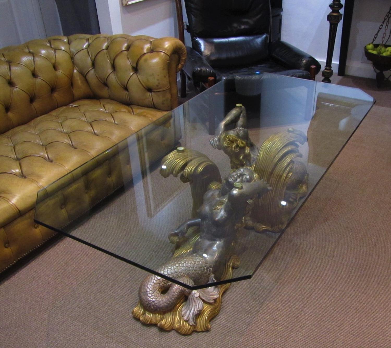 mid century mermaid coffee table