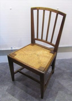 A set of six antique provincial dining chairs