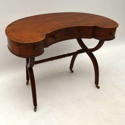Antique Mahogany Kidney Shaped Desk or Dressing Table