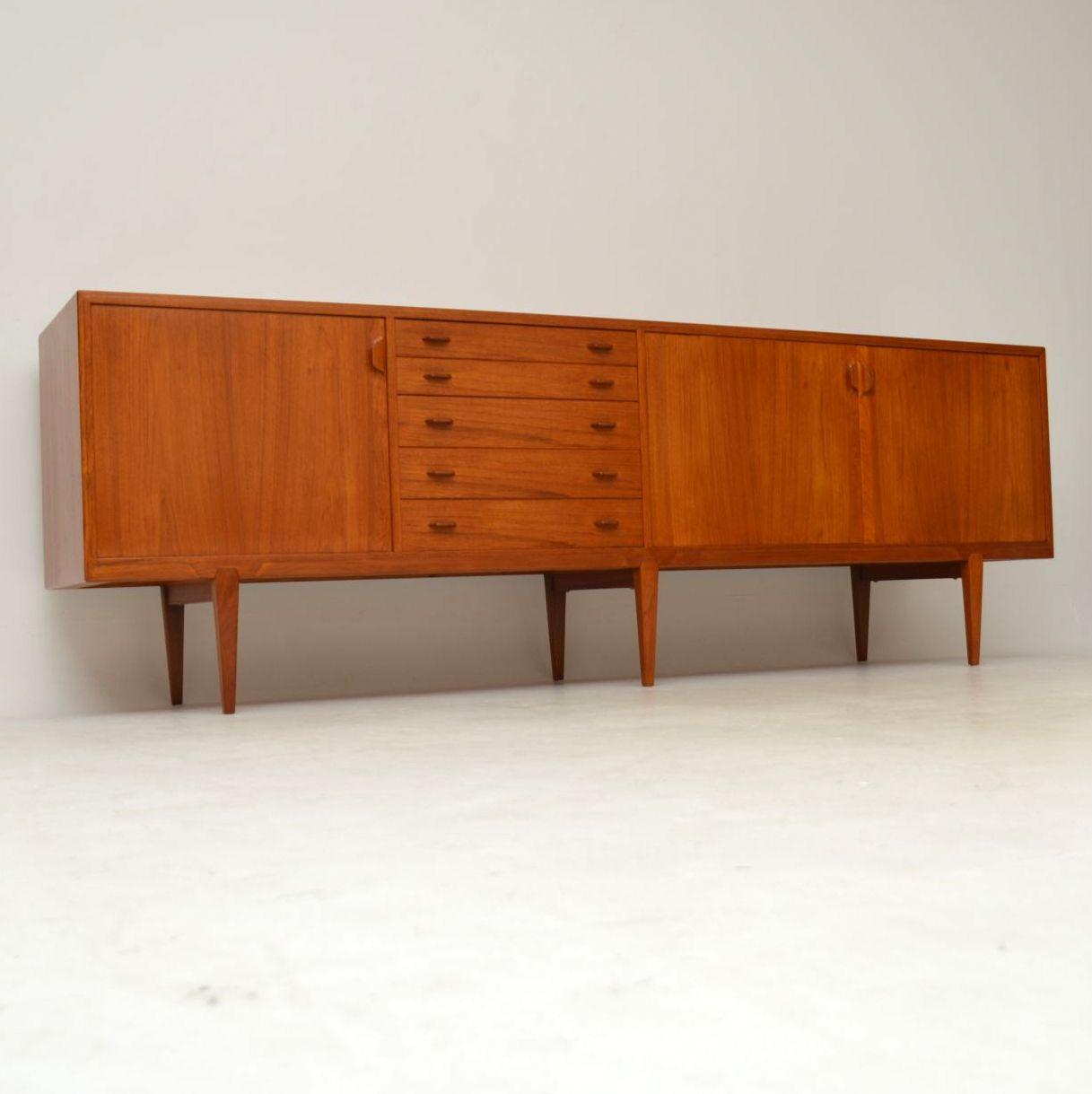 1960 S Danish Teak Vintage Sideboard By Rosengren Hansen