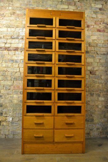 Oak Drapers Haberdashery Shirt Cabinet