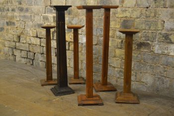 Antique Wooden Pedestal Stands