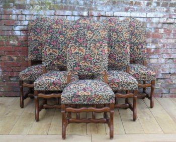 Six Oak Os De Mouton Dining Chairs