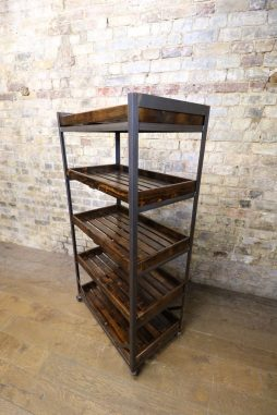 Iron and Pine Bread Trolley